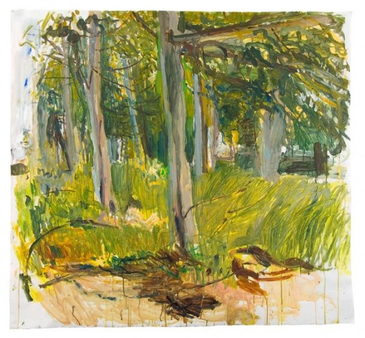 untitled (trees behind studio, study 2)