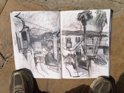 sketchbook (malaga from ground level)