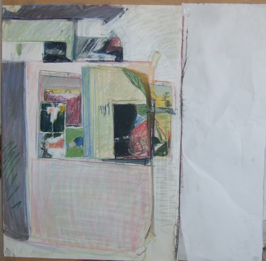 untitled (studio wall, drawing 1)