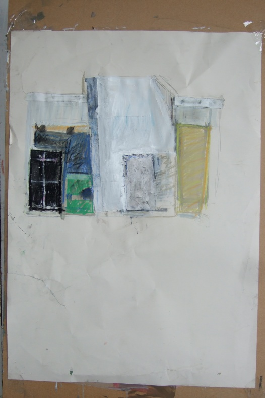 untitled (studio wall, drawing 5)