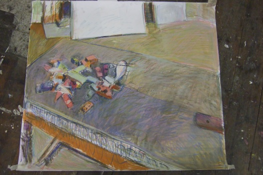 untitled drawing (toy cars, hospitalfield scenarios)