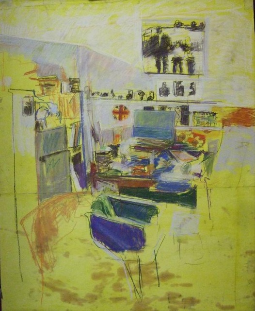 untitled studio drawing (james ' studio, drawing 3)