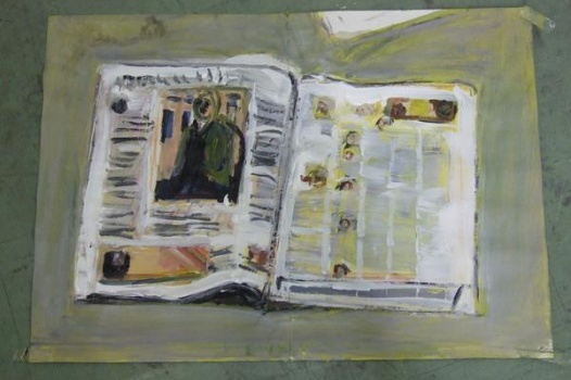 newspaper (after munch)