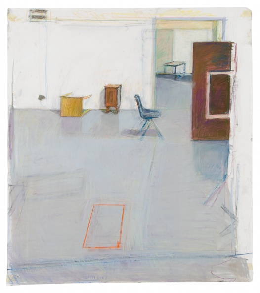 studio drawing (hospitalfield house, alumni residency) chalk pastel on paper 2008,