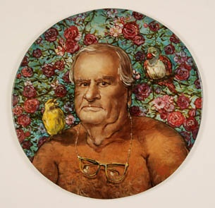 Man With Two Finches (Ripe For The Picking Series)