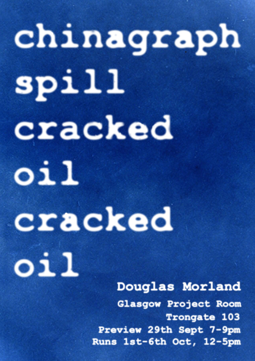 Chinagraph Spill Cracked Oil Cracked Oil by Dougie Morland